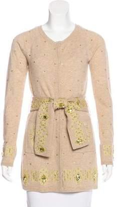 Manoush Embellished Knit Cardigan