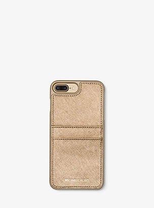 Michael Kors Metallic Saffiano Leather Phone Case For Iphone7/8 Plus