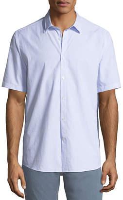 Salvatore Ferragamo Men's Textured Cotton Short-Sleeve Sport Shirt