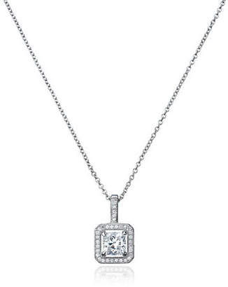 Crislu Faceted Cubic Zirconia Pendant Necklace