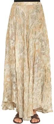 Mes Demoiselles Cotton & Lurex Jacquard Long Skirt