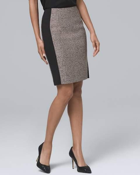 Whbm Tweed Boot Skirt