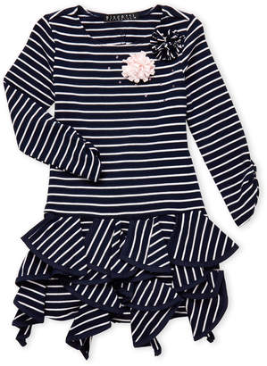 Biscotti Girls 4-6x) Ruffle Hem Stripe Dress