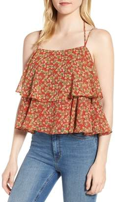Rebecca Minkoff Cynthia Floral Tiered Top