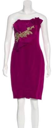 Marchesa Sleeveless Evening Dress