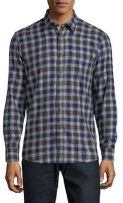 Report Collection Plaid Cotton Button-Down Shirt