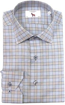 Lorenzo Uomo Trim Fit Box Check Dress Shirt