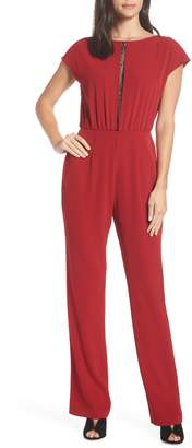 Charles Henry Lace Inset Jumpsuit
