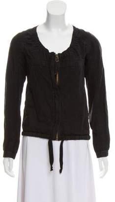 Etoile Isabel Marant Linen-Blend Collarless Jacket