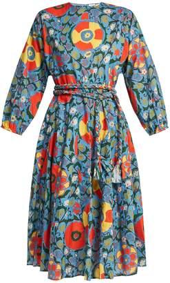 RHODE RESORT Floral-print cotton midi dress