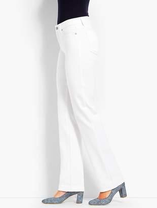 Talbots High-Rise Denim Barely Boot - White