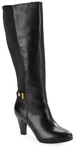 Anne KleinAnne Klein Delray Leather Knee-High Boots