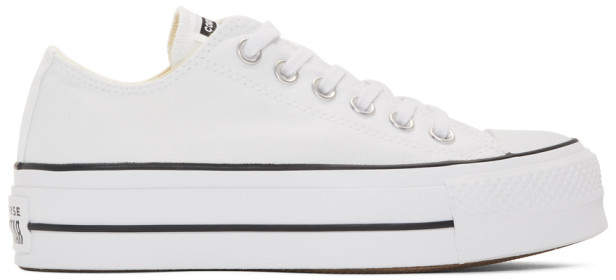 a794aaac762 Converse White Chuck Taylor All Star Lift Platform Sneakers   60