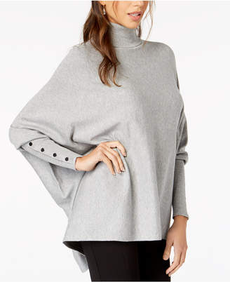 Alfani Turtleneck Poncho Sweater