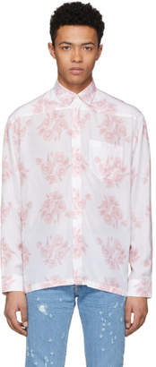 Givenchy White Archive Flower Print Shirt