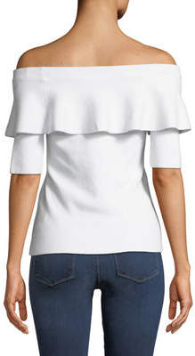 Minnie Rose Off-the-Shoulder Ruffle Blouse