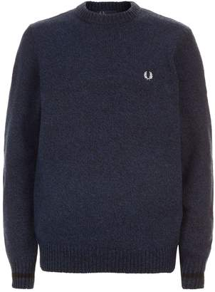 Fred Perry Tipped Crew Neck Sweater