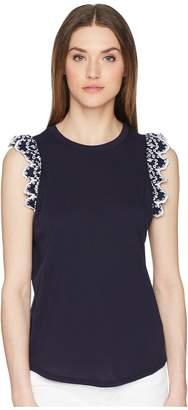 Kate Spade Eyelet Sleeveless T-Shirt Women's T Shirt