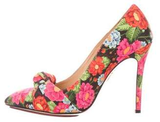 Charlotte Olympia Floral Print Pointed-Toe Pumps