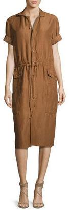 Ralph Lauren Collection Tilden Short-Sleeve Shirtdress, Brown $1,890 thestylecure.com