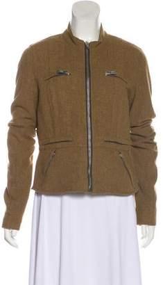 Rick Owens Virgin Wool-Blend Zip-Up Jacket
