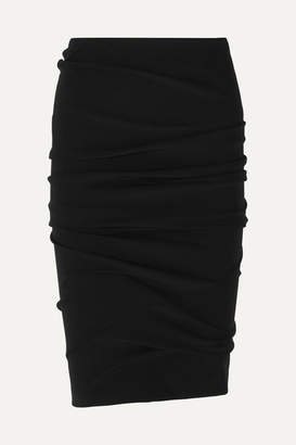 Tom Ford Ruched Stretch-jersey Skirt - Black