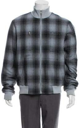 Marc Jacobs Plaid Wool Bomber Jacket