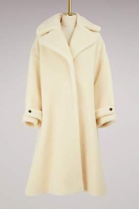 Olympia Le-Tan Olympia Le Tan Wool Kim teddy coat