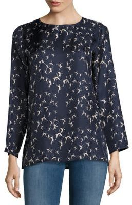 Max Mara Printed Silk Top