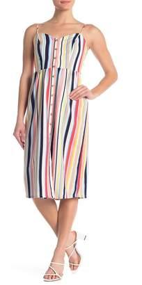 Love, Nickie Lew Striped Woven Midi Dress
