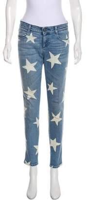 Stella McCartney Star Print Mid-Rise Jeans