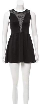For Love & Lemons Semi-Sheer Mini Dress
