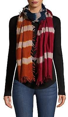 Bajra Women's Striped Felted Wool & Silk Scarf
