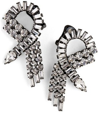 Women's Ashley Williams Crystal Swirl Earrings $285 thestylecure.com