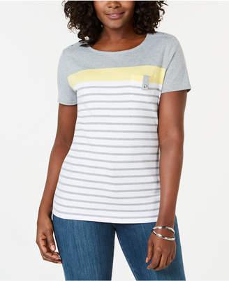 Karen Scott Multi-Stripe T-Shirt