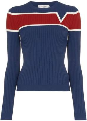 Valentino contrast stripe knitted top