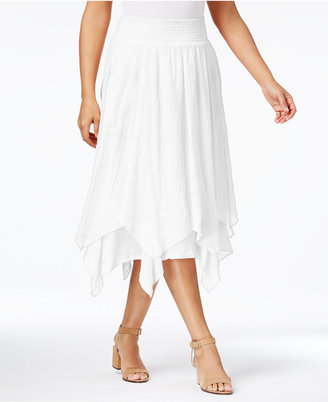 Style & Co Cotton Handkerchief-Hem Skirt, Created for Macy's $54.50 thestylecure.com