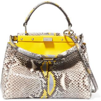 Peekaboo Mini Python Shoulder Bag - Yellow