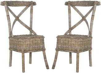 Safavieh Katell Wicker Side Chair, Multiple Colors, Set of 2