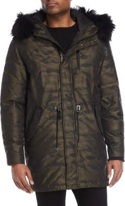 Mackage Camo Real Fur-Trimmed Down Parka