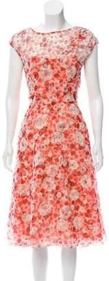 Lela Rose Floral Organza Dress