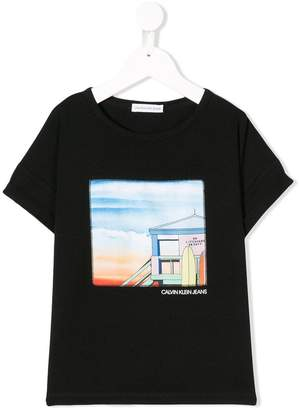 Calvin Klein Kids graphic print T-shirt