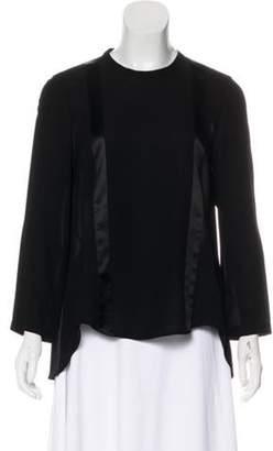 Brunello Cucinelli Silk Long Sleeve Top Black Silk Long Sleeve Top