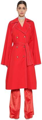 Nina Ricci Stretch Cotton Poplin Coat