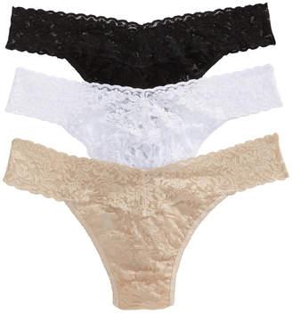 Hanky Panky 3-Pk. Low-Rise Lace Thong 49113PK