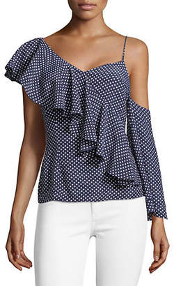 CLYDE MLM Cold-Shoulder Ruffle Top
