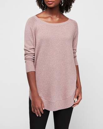 Express Marled Extreme Circle Hem Tunic Sweater