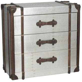 Pacific Aluminium Effect Wooden 3 Drawer Unit