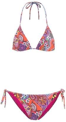 Etro Printed triangle bikini