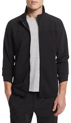 Theory Zip-Front Long-Sleeve Track Jacket, Black $295 thestylecure.com
